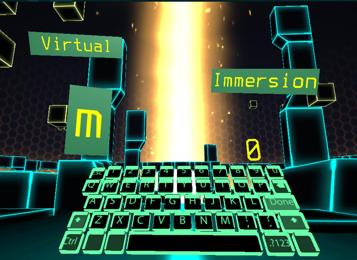 VR Typing Trainer Screenshot